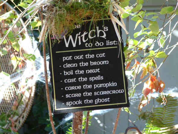 Even witches must keep busy