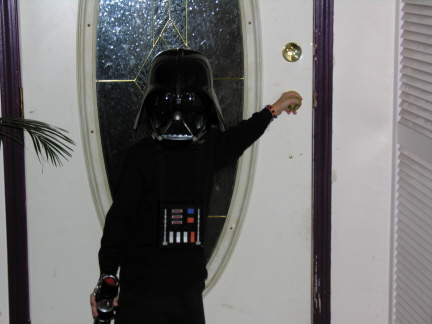Darth heading to work